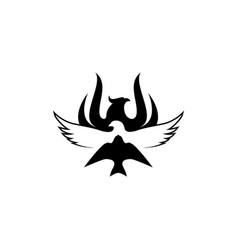 phoenix eagle swallow chinese guowen bird logo vector image