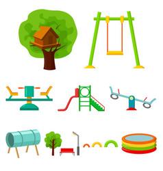 Play garden set icons in cartoon style big vector