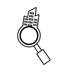 Real estate search house market outline vector
