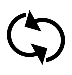 Refresh circular arrows icon vector