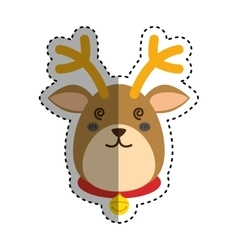 Reindeer xmas cartoon vector image