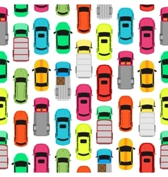 Seamless Pattern Cars on Parking Endless Texture vector