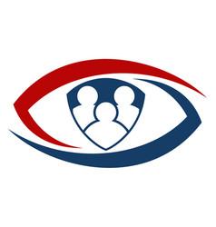 shield eye identification login vector image