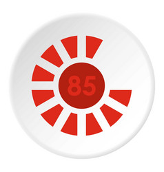 Sign 85 load icon circle vector