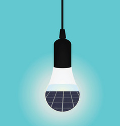solar panels inside led bulb vector image