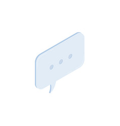 speech bubble isometric icon vector image