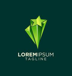 star gem logo design vector image