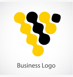 Stock logo business on white background vector