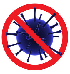 stop covid-19 sign and symbol stop coronavirus vector image