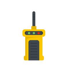 Talkie radio icon flat style vector