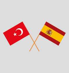 The spanish and turkish flags vector