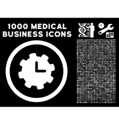 Time Settings Rounded Icon With Medical Bonus vector
