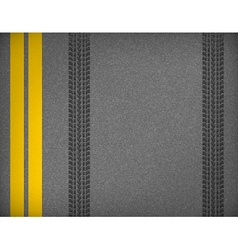 Tire tracks on road vector image