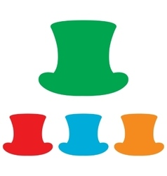 Top hat sign Colorfull set vector image