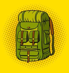 Tourist backpack pop art vector
