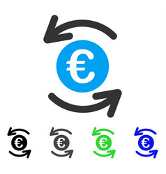 Update euro balance flat icon vector