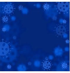 Virus epidemic molecule blue vector