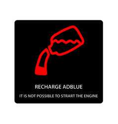 Warning dashboard car icon recharge adblue vector
