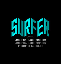 Water wave style font vector