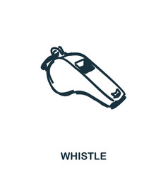 whistle icon mobile apps printing and more usage vector image