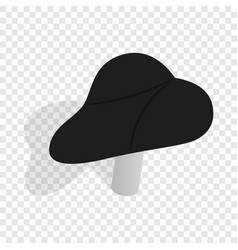 black bicycle seat isometric icon vector image vector image