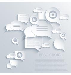 bubble speech background Eps10 vector image vector image
