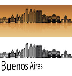buenos aires v2 skyline vector image