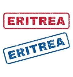 Eritrea Rubber Stamps vector image vector image