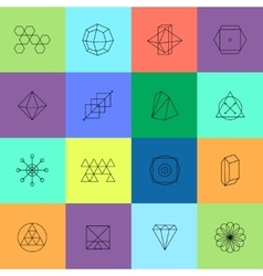 Geometric icons for hipster logotypes vector
