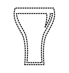 glass soda straw bubbles beverage vector image