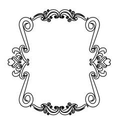 romantic decorative frame floral border cute image vector image