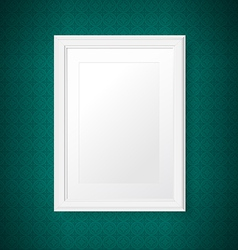 Antique white frame on the vintage wall vector image vector image