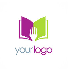 Book recipe logo vector
