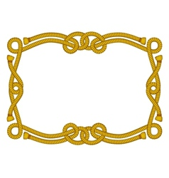 fancy rope frame vector image vector image