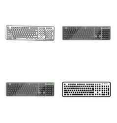 keyboard icon in cartoon style isolated on white vector image