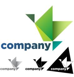 Origami Bird vector image vector image