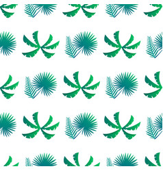 palm leaves and bushes pattern vector image vector image