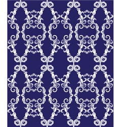 Seamless pattern - damask ornamental background vector image vector image