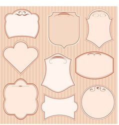 set of vector frames vector image vector image