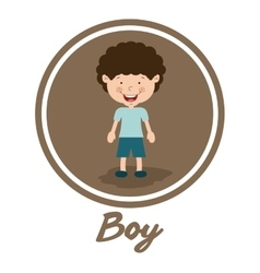 boy smiling design vector image vector image