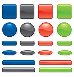 buttons different vector image vector image
