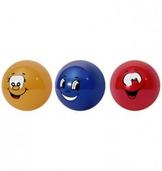 happy balls vector image vector image