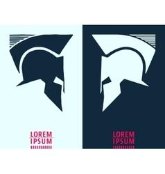 Helmet logo icon vector image
