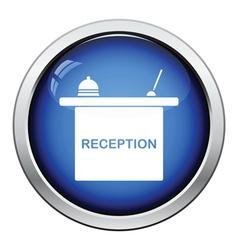 Hotel reception desk icon vector image vector image