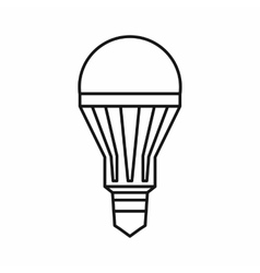 Led bulb icon outline style vector image vector image