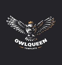 owl logo - emblem design vector image vector image