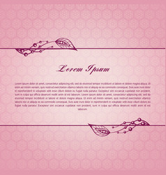 rose calligraphic elements vector image
