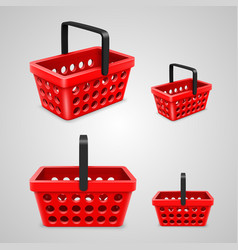 shopping bag with round holes red vector image vector image