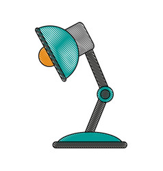 study light lamp vector image
