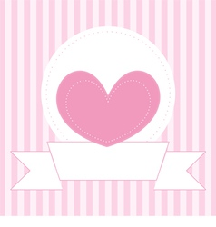 Valentines card or invitation full of love vector image vector image
